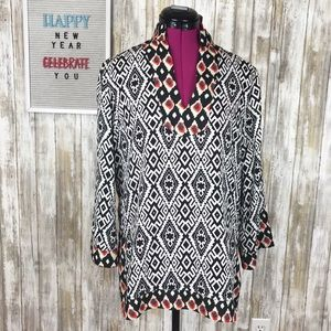 THML Printed Tunic Top Blouse Size M